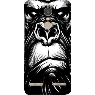 FUSON Designer Back Case Cover for Lenovo K6 (Animal Background Open Ears Black Hairs Jungle Nose)
