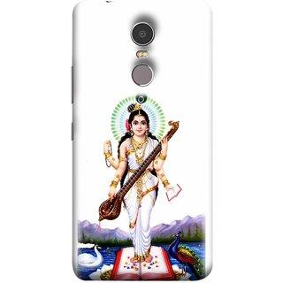 FUSON Designer Back Case Cover for Lenovo K6 Note (Goddess Of Knowledge Eloquence Learning Saraswati)