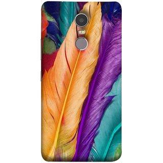 FUSON Designer Back Case Cover for Lenovo K6 Note (Birds Feathers Parrot Peacock Best Cover Design)