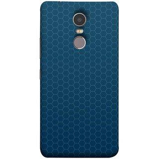 FUSON Designer Back Case Cover for Lenovo K6 Note (Hexa Design Honey Bee Hive Art Style Blue)