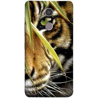 FUSON Designer Back Case Cover for Lenovo K6 Note (Animal Bengal Indian Jungle King Whiskers Grass)