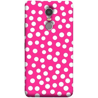 FUSON Designer Back Case Cover for Lenovo K6 Note (Small Bubbles Marbles Circle Pink Board)