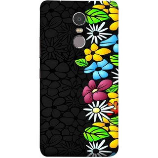 FUSON Designer Back Case Cover for Lenovo K6 Note (Multicolour Flowers Phul Gray Geen Leaves Beautiful)