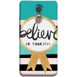 FUSON Designer Back Case Cover for Lenovo K6 Note (Trust Your Self Winner 1St Prize Successful)