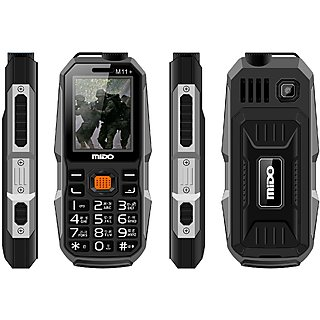 Mido M11+ Black 1200 mAh Long Battery,SOS 1.8 Inch Dual Sim Feature Phone With Unique look