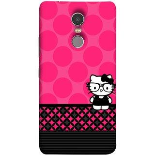 FUSON Designer Back Case Cover for Lenovo K6 Note (Small Cute Pink Red Paper Bubbles Circles Valentine)