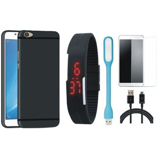 Redmi A1 Back Cover with Free Digital LED Watch, Tempered Glass, LED Light and USB Cable