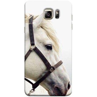 FUSON Designer Back Case Cover for Samsung Galaxy Note 5 :: Samsung Galaxy Note 5 N920G :: Samsung Galaxy Note5 N920T N920A N920I  (Beautiful Horse White Closeup Canvas Wallpaper)