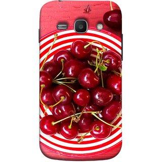 FUSON Designer Back Case Cover for Samsung Galaxy Ace 3 :: Samsung Galaxy Ace 3 S7272 Duos  :: Samsung Galaxy Ace 3 3G S7270 :: Samsung Galaxy Ace 3 Lte S7275 (Plump Dark Red Farm Fresh Very Tasty )