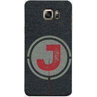 FUSON Designer Back Case Cover for Samsung Galaxy Note 5 :: Samsung Galaxy Note 5 N920G :: Samsung Galaxy Note5 N920T N920A N920I  (Dark Alphabet Circle Vintage Grey Circle Pattern J)