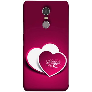 FUSON Designer Back Case Cover for Lenovo K6 Note (Just Pinky Say Always I Love You Red Hearts Couples)