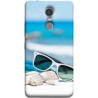 FUSON Designer Back Case Cover for Lenovo K6 Note (Summer Vacation Beach Mobile Wallpaper Blue Sky )