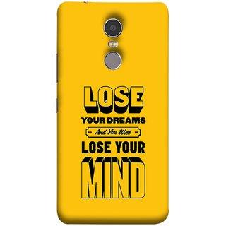 FUSON Designer Back Case Cover for Lenovo K6 Note (Lose Your Mind Sapne Khatam To Dimag Bhi Khatam)