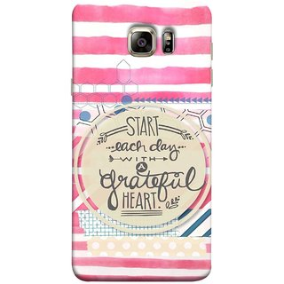 FUSON Designer Back Case Cover for Samsung Galaxy Note 5 :: Samsung Galaxy Note 5 N920G :: Samsung Galaxy Note5 N920T N920A N920I  (Great Hearts Dil Love Everyday Quotes Sunny Bright )