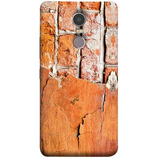FUSON Designer Back Case Cover for Lenovo K6 Note (Peeling Plaster Bricks White Cement Broken Small Big)