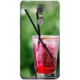 FUSON Designer Back Case Cover for Lenovo K6 Note (Glass Full Of Cold Fresh Squeezed Watermelon Juice)