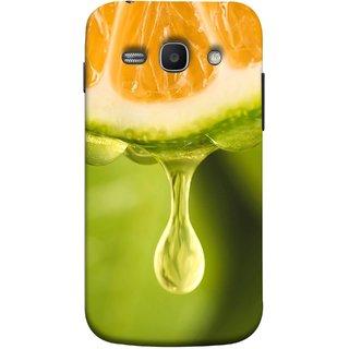 FUSON Designer Back Case Cover for Samsung Galaxy Ace 3 :: Samsung Galaxy Ace 3 S7272 Duos  :: Samsung Galaxy Ace 3 3G S7270 :: Samsung Galaxy Ace 3 Lte S7275 (Orange Juice Dripping Slice Citrus Fruit Flesh)