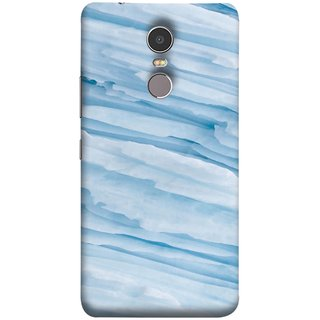 FUSON Designer Back Case Cover for Lenovo K6 Note (Deep Grooves Side Blue Iceberg Floating Antarctic)