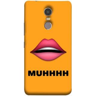FUSON Designer Back Case Cover for Lenovo K6 Note (Red Lips Pinky Flying Kisses Girl Lovers Couples Hot)