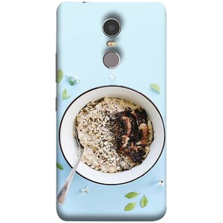 FUSON Designer Back Case Cover for Lenovo K6 Note (Bowl Of Breakfast Cereal With Milk And Spoon)