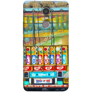 FUSON Designer Back Case Cover for Lenovo K6 Note (Decorated Goods Carrier On Indian Road Stop Dil Tera)