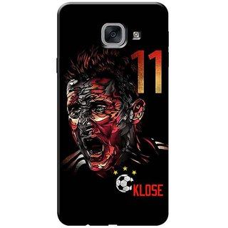 Samsung J7 Max,on Max Black Hard Printed Case Cover by HACHI - Klose Football Fans design