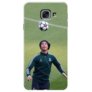 Samsung J7 Max,on Max Black Hard Printed Case Cover by HACHI - Ronaldo Football Fans design