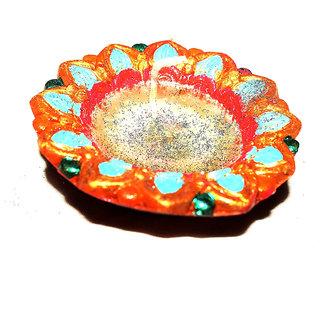 Designer Large multicolor Diyas combo of 5 by Vidyawati