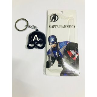 Captain america mask key-chain