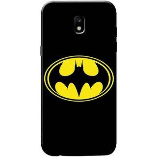 Samsung J7 pro Black Hard Printed Case Cover by HACHI - Batman Fans design