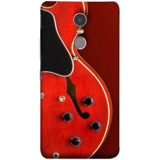 FUSON Designer Back Case Cover for Lenovo K6 Note (Close Up Of Electric Guitar Leaning On Amplifier )