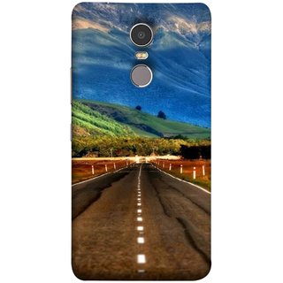 FUSON Designer Back Case Cover for Lenovo K6 Note (Scenic Road And Beautiful Mountains Highway Nature)