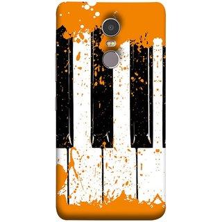 FUSON Designer Back Case Cover for Lenovo K6 Note (Black And White Colour Splash Droplets Music )
