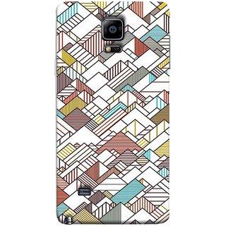 FUSON Designer Back Case Cover for Samsung Galaxy Note Edge :: Samsung Galaxy Note Edge N915Fy N915A N915T N915K/N915L/N915S N915G N915D (Watercolor Horizontal Vertical Vector Lines Colourful)