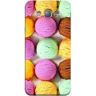 FUSON Designer Back Case Cover for Samsung Galaxy A8 (2015) :: Samsung Galaxy A8 Duos (2015) :: Samsung Galaxy A8 A800F A800Y (Cherry Flowers Hearts Lemons Almonds Cashews Pista)