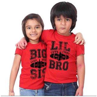 Big Sis Lil Bro brother and Sister Tees Combo