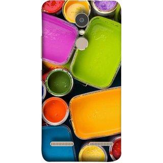 FUSON Designer Back Case Cover for Lenovo K6 Power (Cans And Paint On Colour Background Bright Full Joy )