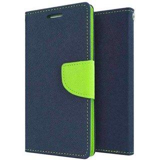 New Mercury Goospery Fancy Diary Wallet Flip Case Back Cover for Redmi Note 2 (Blue)