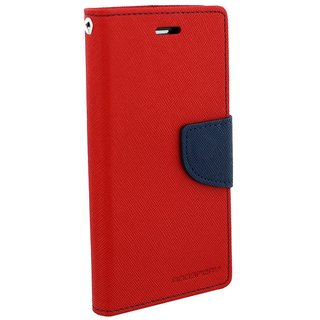 New Mercury Goospery Fancy Diary Wallet Flip Case Back Cover for Redmi Note 2 (Red)