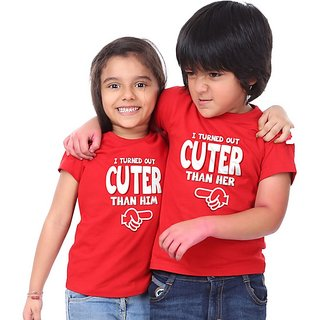 I turned out cuter T-shirt For Bro and Sis Combo