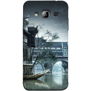 FUSON Designer Back Case Cover for Samsung Galaxy On5 (2015) :: Samsung Galaxy On 5 G500Fy (2015) (Vintage Look Tturist Boat In An Amsterdam Canal Surrounded)