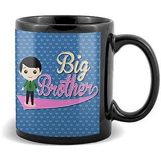 Big Brother With Floral Dark Blue Color Gifts For Birthday And Anniversary  Mug