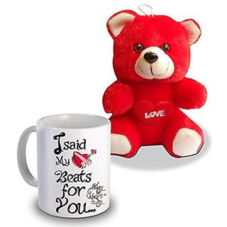I Sad My  For You Teddy and Mug Gifts For Valentines