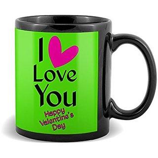 I Love You With Pink Heart  Mug Valetines