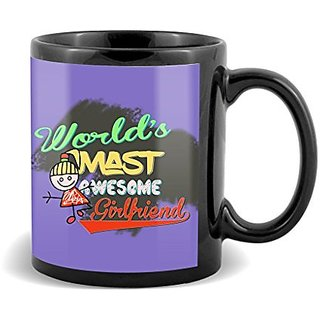 Worlds Mast Awesome Girlfriend With Best Gifts For Birthday And Anniversary  Mug