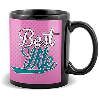 Best Wife With Pink Floral Background Best Gifts For Birthday And Anniversary  Mug