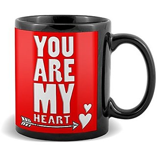 You Are My Heart With Arrow  Mug Valetines