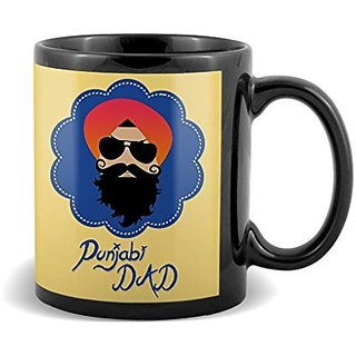 Punjabi Dad Sardar With Yellow Background Best Gifts For Dad Fathers Day  Mug