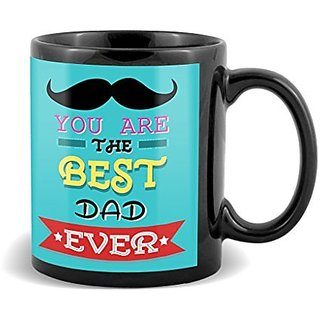 You Are The Best Dad Ever With Black Mustaches And Green Background Unique Gifts For Fathers Day  Mug