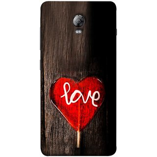 FUSON Designer Back Case Cover for Lenovo Vibe P1 :: Lenovo Vibe P1 Turbo :: Lenovo Vibe P1 Pro (Big Tree Dark Red Candy Heart Shape)